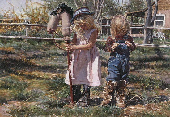 Steve Hanks Country Girls Canvas