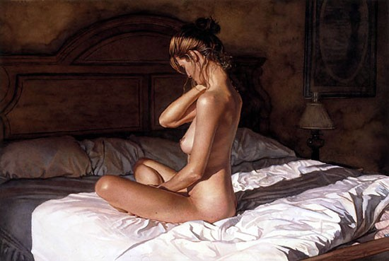 Steve Hanks Casting Her Shadow Canvas