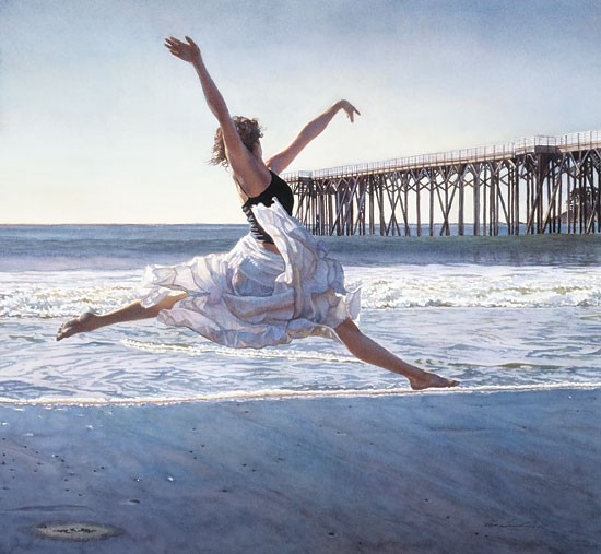 Steve Hanks To Dance Before the Sea and Sky Canvas