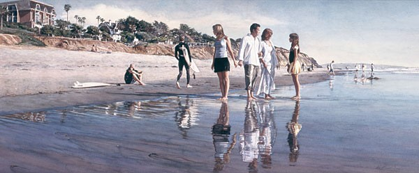 Steve Hanks Raising Daughters Canvas