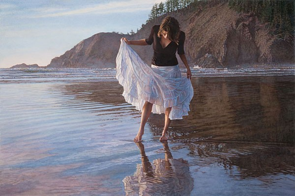 Steve Hanks Reflecting on Indian Beach Limited Edition Print