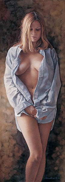 Steve Hanks His Shirt Canvas