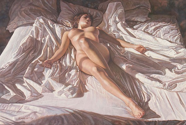 Steve Hanks Like an Angel Canvas