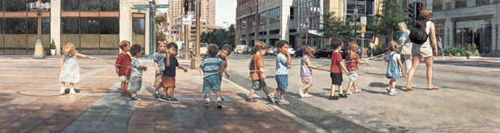 Steve HanksStringing the Children Along MASTERWORK EDITION ONCanvas