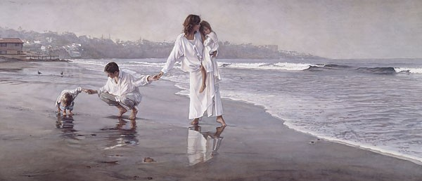 Steve Hanks Holding the Family Together ANNIVERSARY EDITION ON Canvas