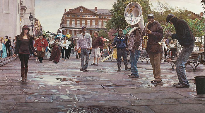 Steve Hanks New Orleans Celebrating Life Death and the Pursuit of Happiness MASTERWORK EDITION ON Canvas