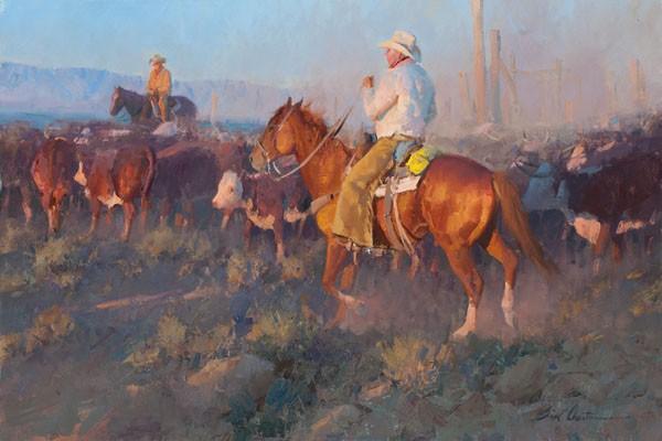 Bill AntonThe Last Bit of Sun Giclee on Canvas Artist Proof