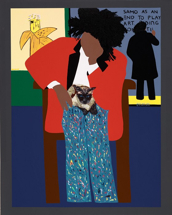 Synthia SAINT JAMES A Tribute To Jean-michel Basquiat Giclee On Canvas