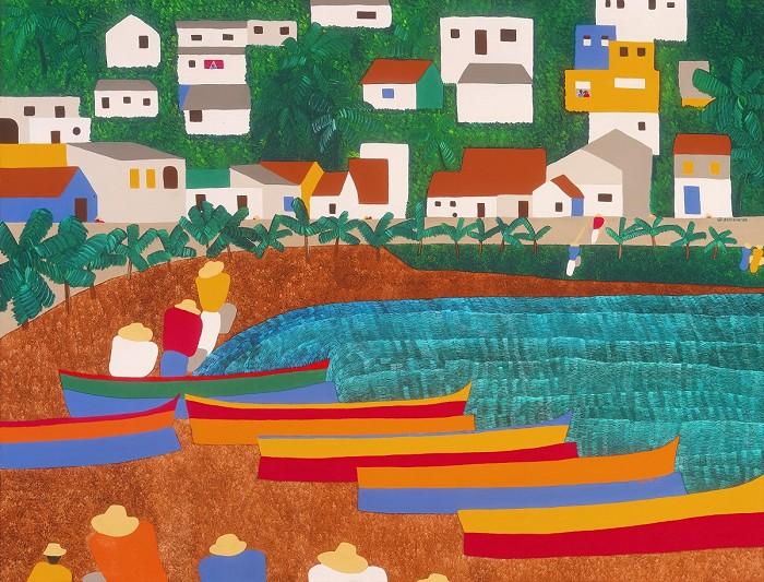 Synthia SAINT JAMESBellefontaine MartiniqueGiclee On Canvas