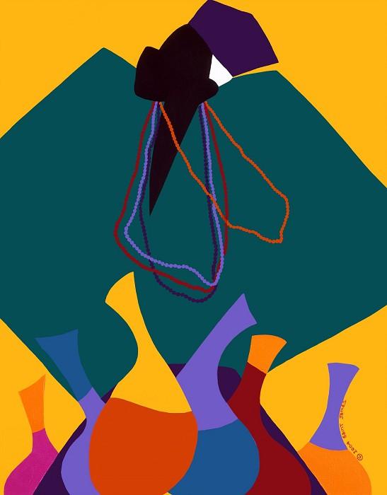 Synthia SAINT JAMESConjure ManGiclee On Canvas