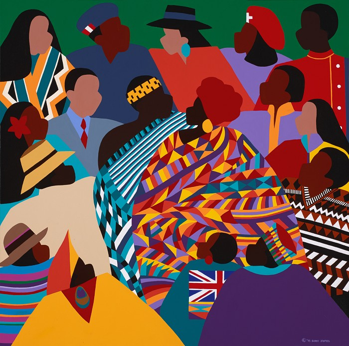 Synthia SAINT JAMES The International Decade Giclee On Canvas