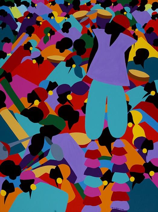 Synthia SAINT JAMESLe Carnaval HaitiGiclee On Canvas