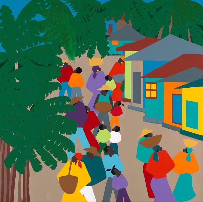 Synthia SAINT JAMESLe VillageGiclee On Canvas
