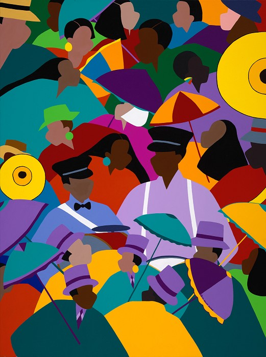 Synthia SAINT JAMES Second Line New Orleans Giclee On Canvas