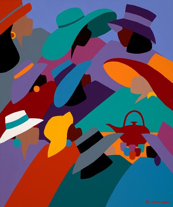 Synthia SAINT JAMESTea And ConversationsGiclee On Canvas