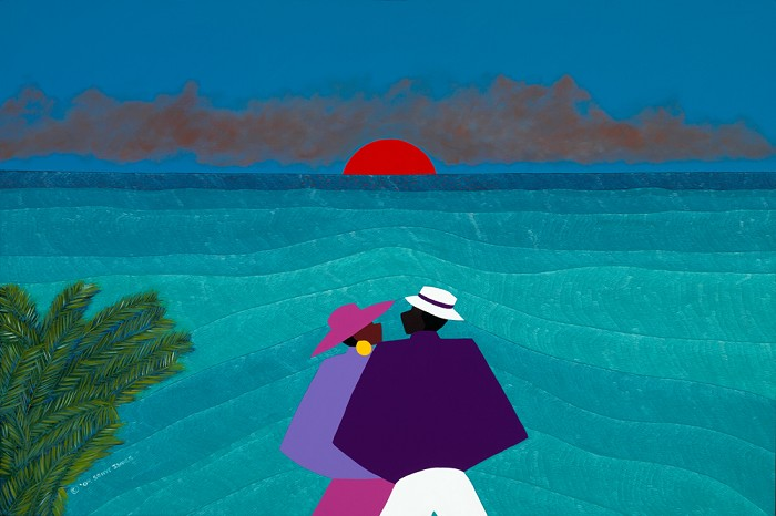 Synthia SAINT JAMES A Turks And Caicos Sunset Giclee On Canvas