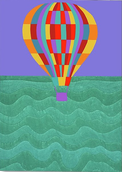 Synthia SAINT JAMES Up Up And Away Giclee On Canvas