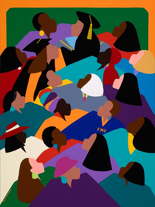 Synthia SAINT JAMES Women Lifting Their Voices Giclee On Canvas