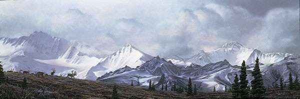 Stephen Lyman IN THE HEART OF ALASKA Canvas