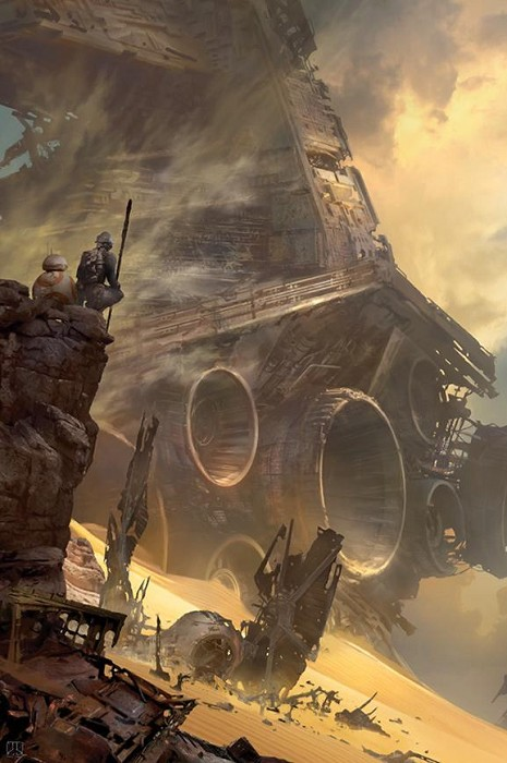 Stephan MartiniereTie Fighter DownGiclee On Canvas
