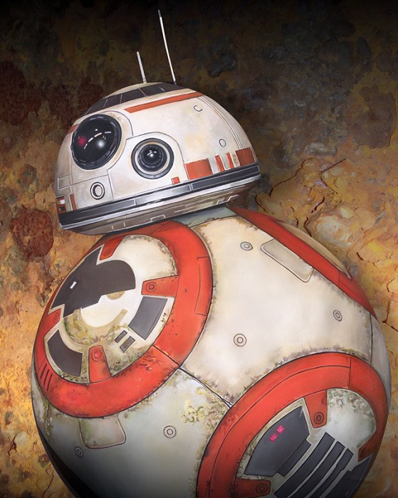 Kevin Graham BB-8 Giclee On Canvas