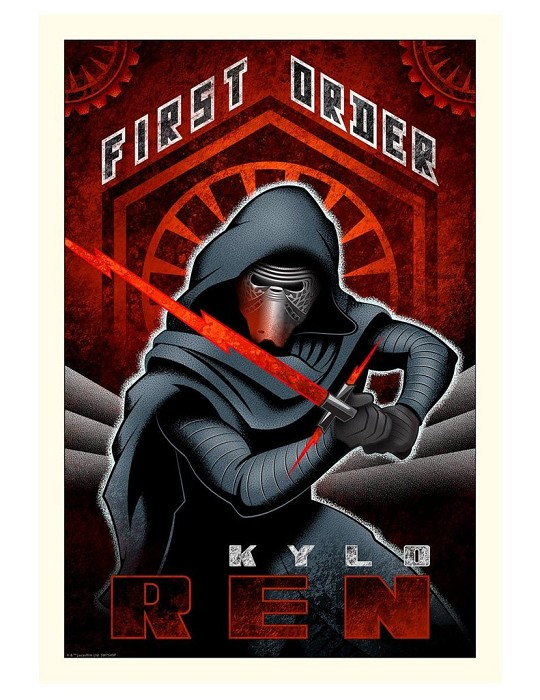 Mike Kungl First Order Ren From Lucas Films Star Wars Giclee On Canvas