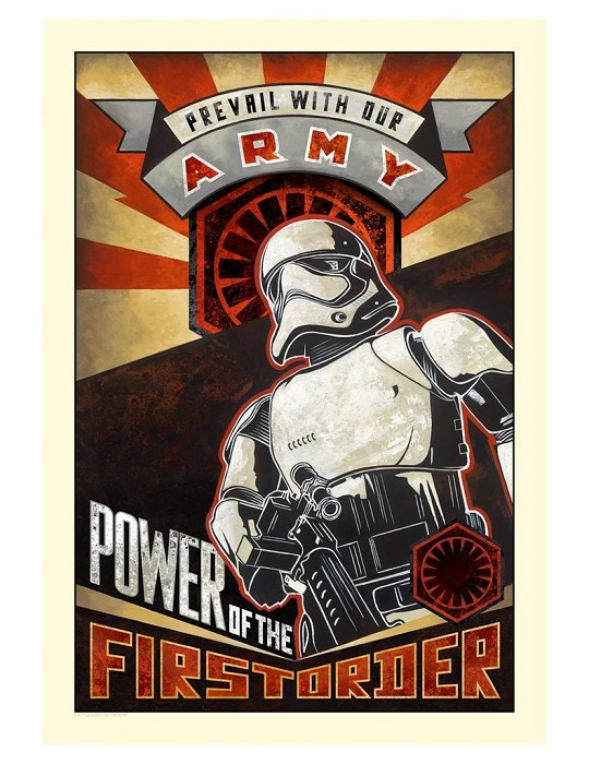 Mike Kungl Power of the First Order From The Force Awakens Giclee On Canvas