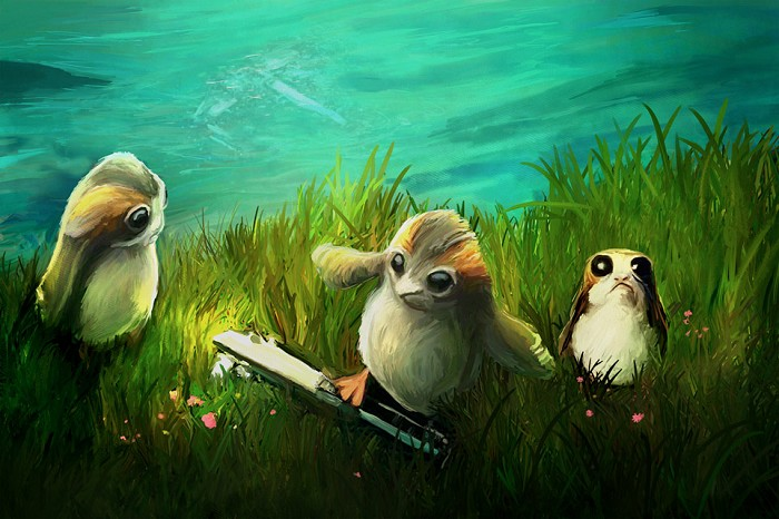 Joel Payne Porgs at Play Giclee On Canvas