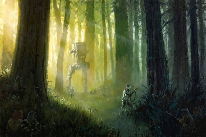 Christopher ClarkPatrolling the Endor MoonGiclee On Canvas