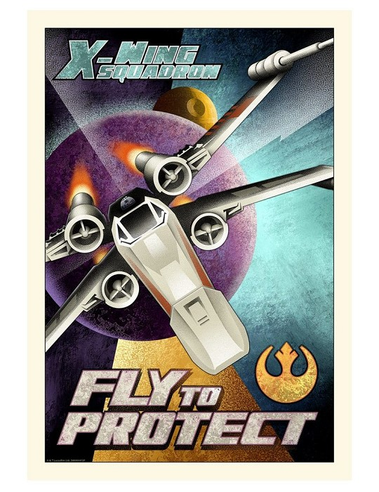 Mike Kungl Fly to Protect From Lucas Films Star Wars Giclee On Canvas
