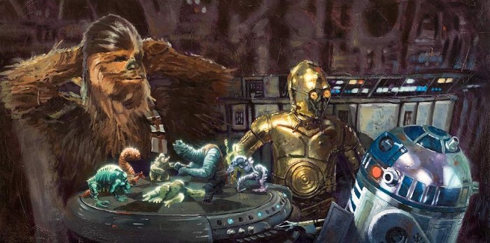 Christopher ClarkLet the Wookiee WinGiclee On Canvas