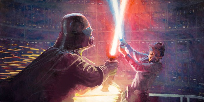 Christopher ClarkNot a Jedi YetGiclee On Canvas