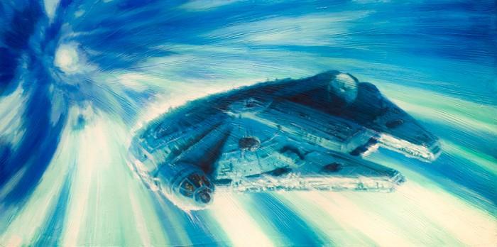Christopher ClarkMillennium Falcon...Giclee On Canvas