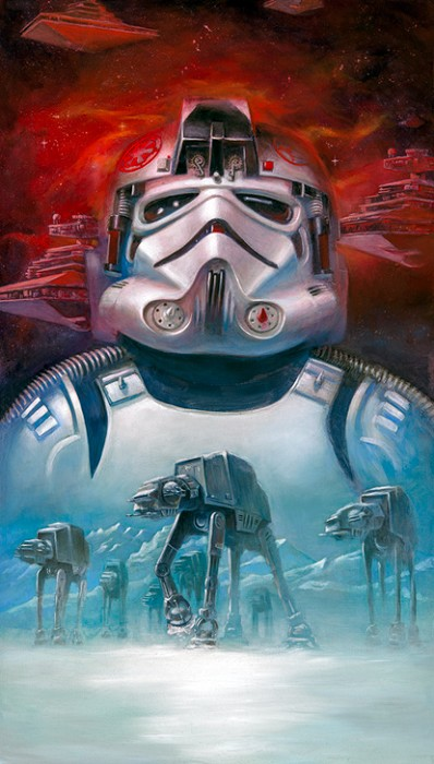 Lee Kohse AT-AT Pilot Giclee On Canvas