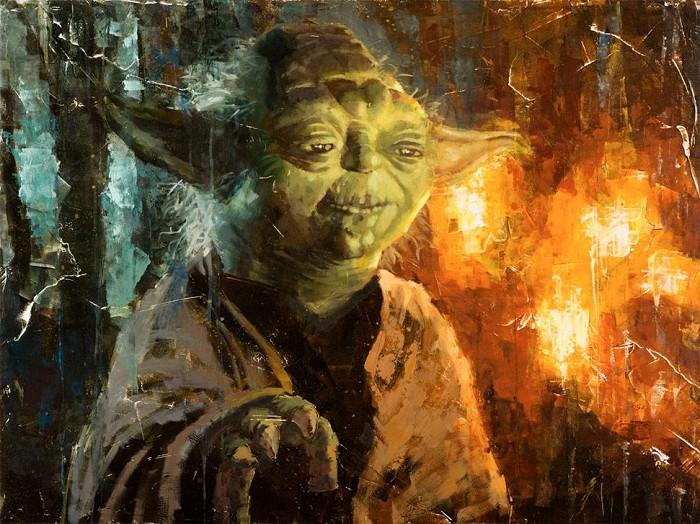 Christopher ClarkMaster YodaGiclee On Canvas