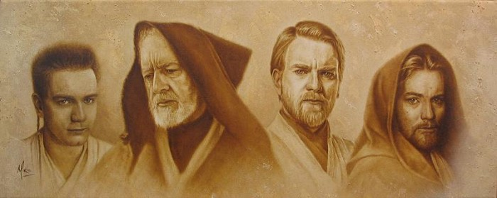 Mike Kupka Evolution of Obi-Wan From Lucas Films Star Wars Giclee On Canvas