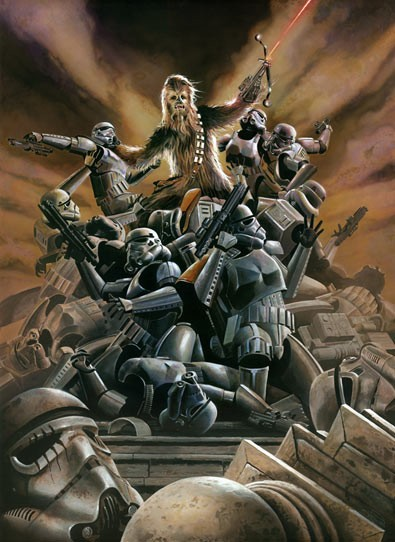 Brian Rood Wookiee Rage Giclee On Canvas