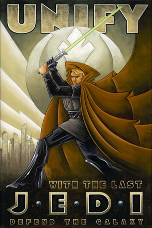 Mike Kungl Unify From Lucas Films Star Wars Giclee On Canvas