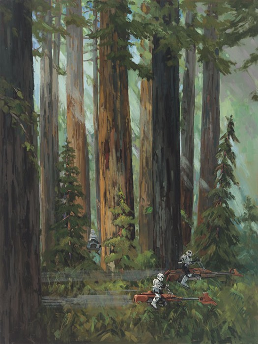 Line Tutwiler Forest Pursuits Giclee On Canvas