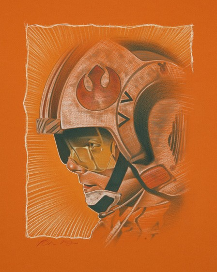 Ben Curtis JonesLike Beggars Canyon From Lucas Films Star WarsGiclee On Canvas