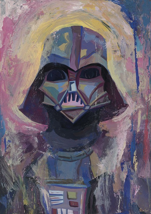 Rich Pellegrino The Darth Vader Giclee On Canvas