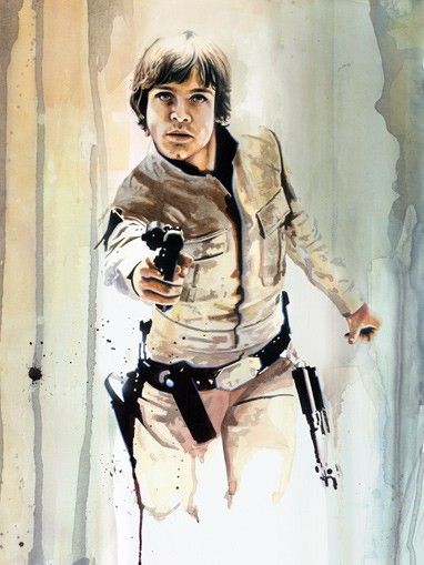 Brian Rood Blaster Luke Giclee On Canvas