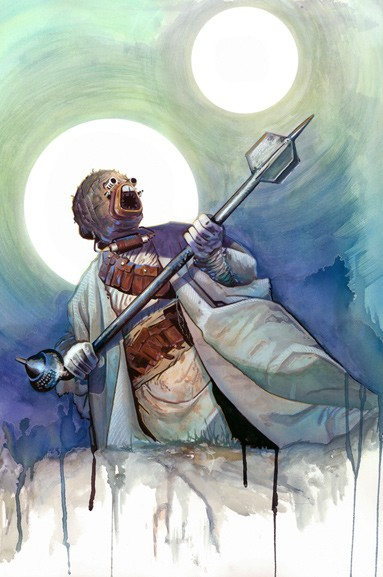 Brian Rood Tusken Raider Giclee On Canvas
