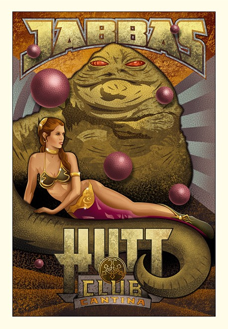 Mike Kungl Jabba's Hutt Club From Lucas Films Star Wars Giclee On Canvas