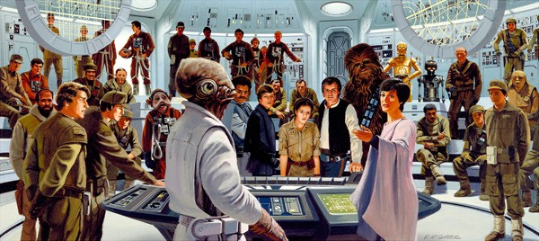 Ralph McQuarrie Plan of Attack (large) Giclee On Canvas