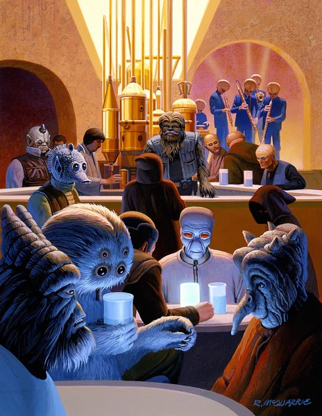 Ralph McQuarrie Wretched Hive Giclee On Canvas