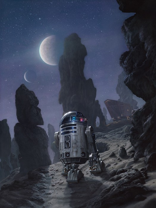 Jerry Vanderstelt Artoo's Lonely Mission Giclee On Canvas