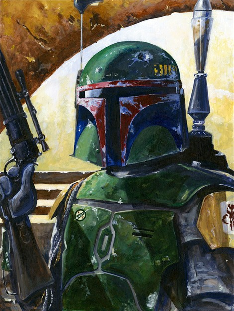 Kim Gromoll Boba's Hunt Giclee On Canvas