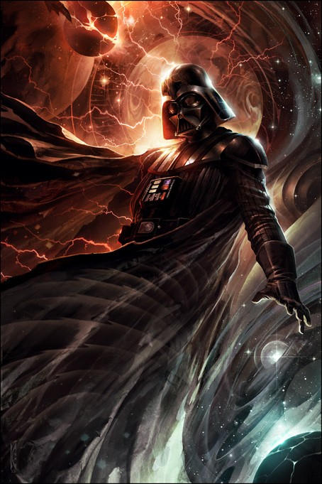 Raymond Swanland Center of the Storm From Lucas Films Star Wars Printers Proof Giclee On Canvas