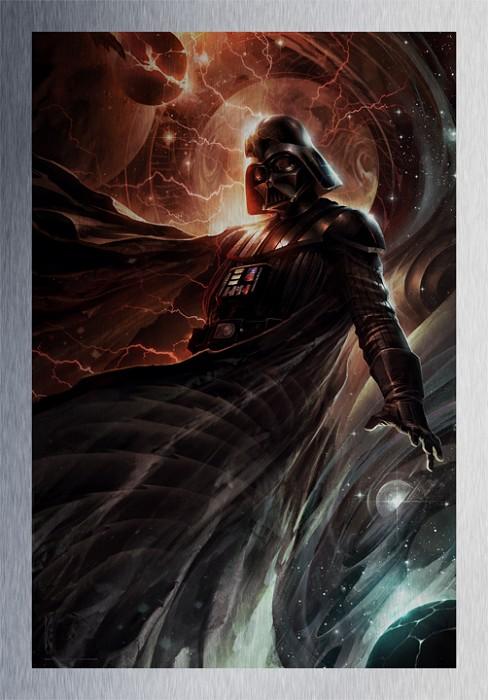 Raymond SwanlandCenter of the Storm From Lucas Films Star Wars Metallic Print